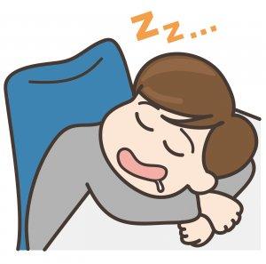暇さえあれば寝ているサラリーマン
