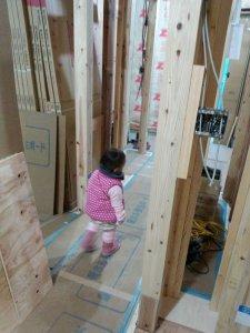 マイホーム建設中の内部
