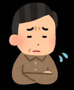 心配する父親のイメージ