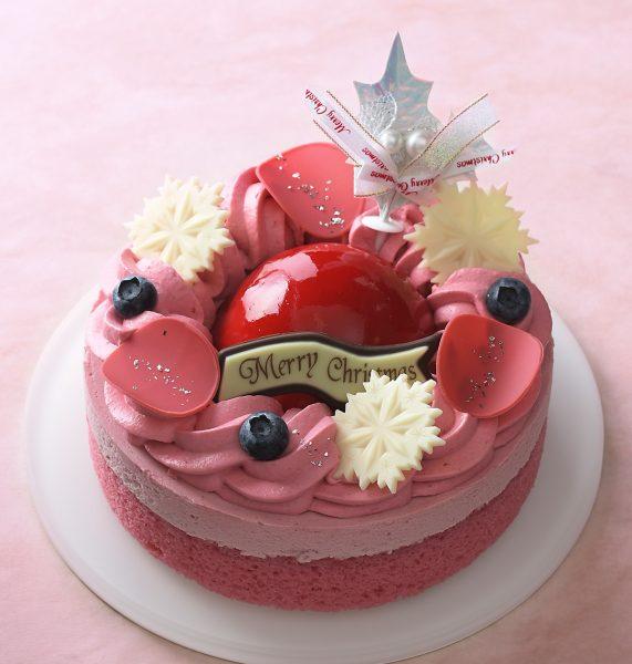 クリスマスケーキ 銀座コージーコーナー ベリーとピスタチオのルージュリース(5号)