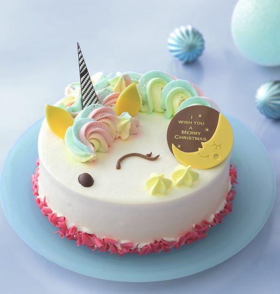 クリスマスケーキ2019 銀座コージーコーナー ゆめを重ねてレインボーユニコーン(4.5号)
