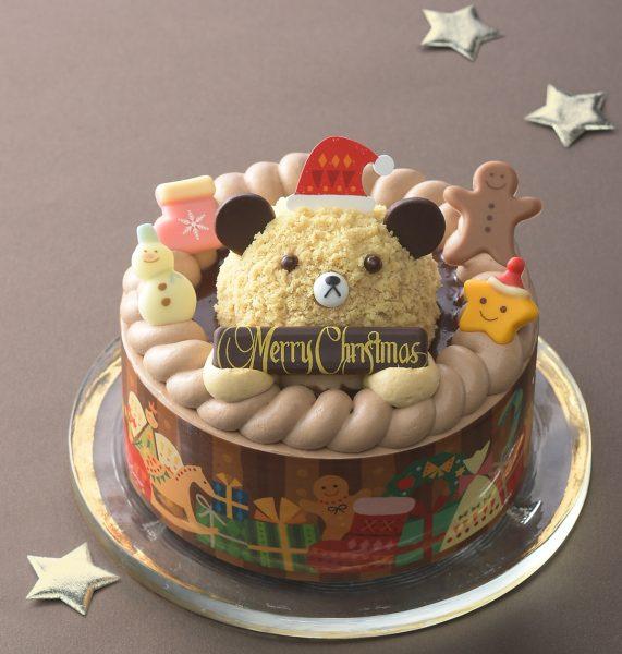 クリスマスケーキ2019 銀座コージーコーナー くまさんのチョコレートケーキ(4.5号)