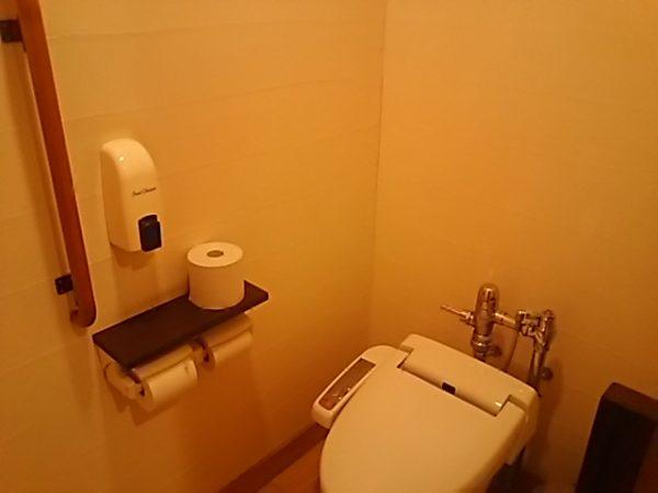 「秋川渓谷 瀬音の湯」貸切風呂のトイレ