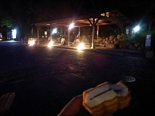 「秋川渓谷 瀬音の湯」風呂上がりのアイス