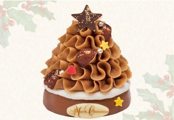 濃厚なマロンのコクで飾り付け、モンブランのクリスマスツリー