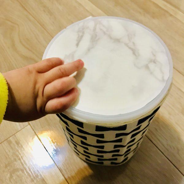 粉ミルクの缶 太鼓の作り方