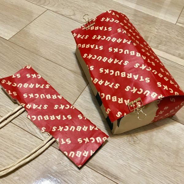 紙袋で作るティッシュカバーの作り方