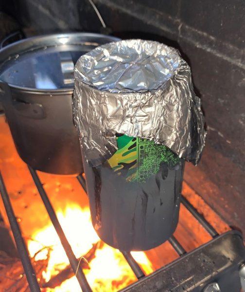 空き缶でご飯を炊く方法