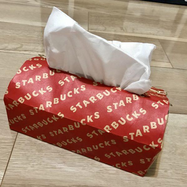 紙袋で作るティッシュカバー 完成