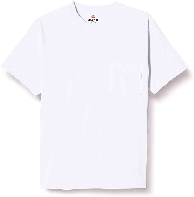 透けない白Tシャツならコレ!Henes(ヘインズ) ポケット付きTシャツ