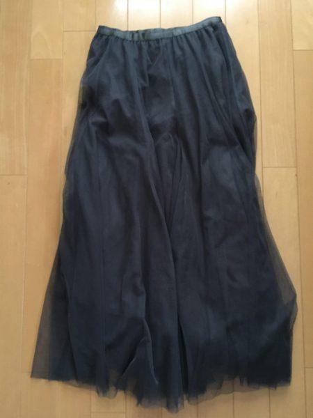 チュールスカート着丈80cmウエストゴム